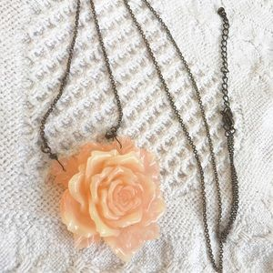 Long rose necklace
